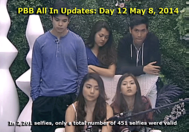 PBB All In Updates: Day 12 May 8, 2014 - In 2,201 selfies, only a total number of 451 selfies were valid