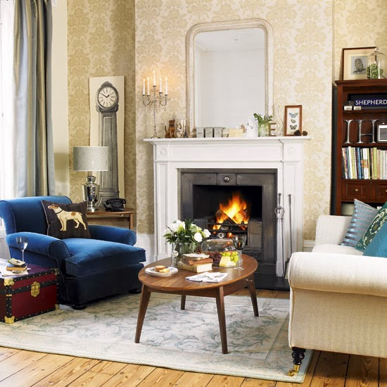 Living room colonial style