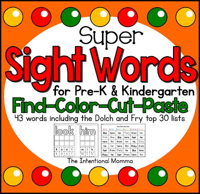 K Words For Kindergarten Words For Kindergarten For pre-k and kindergarten