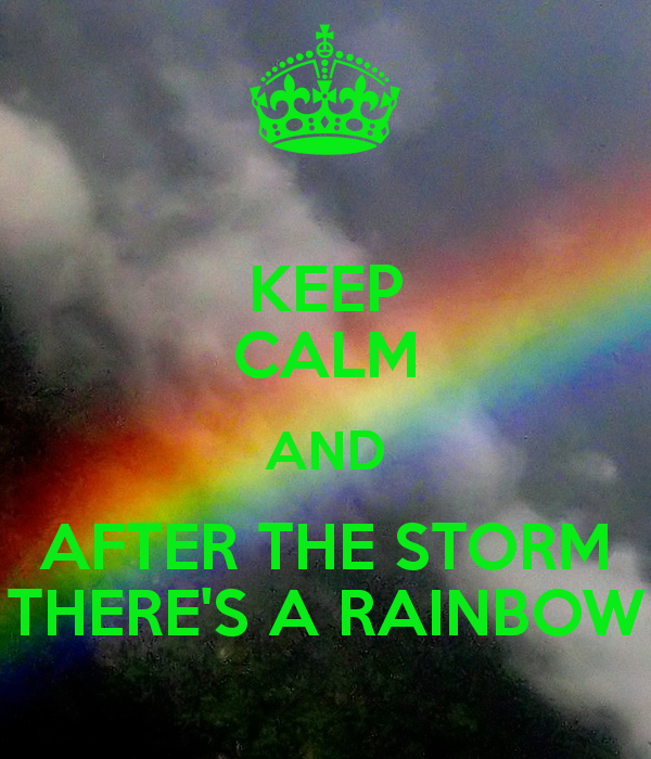 My rainbow will appear when Dennis Weinhold is solidly in my rear view ...