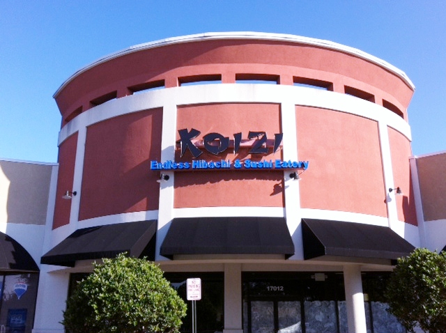 Koizi Endless Hibachi Sushi Eatery Hopes To Open In A Of Weeks And Is Located The Pointe At Tampa Palms Behind Olive Garden On Bbd New