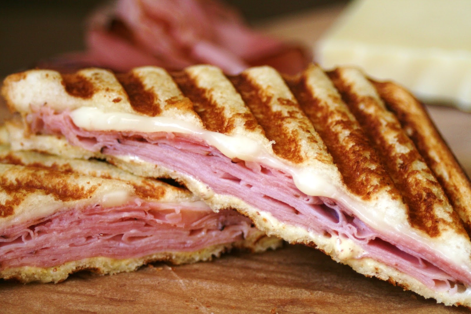 I Thee Cook: Honey Ham and Monterey Jack Panini