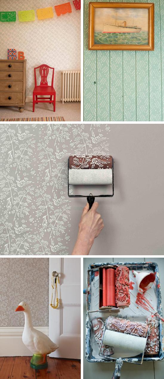 The painted house rodillos estampados para pintar tu - Como pintar con rodillo ...
