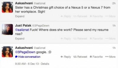 Google Hadiahi Nexus 5 atau Nexus 7 Untuk Semua Karyawannya