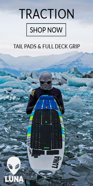 LUNASURF full deck grip & tailpads