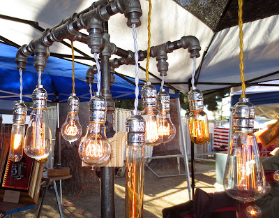 Lamps made out of old pipes