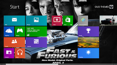 Fast And Furious 6 Windows 8 Theme
