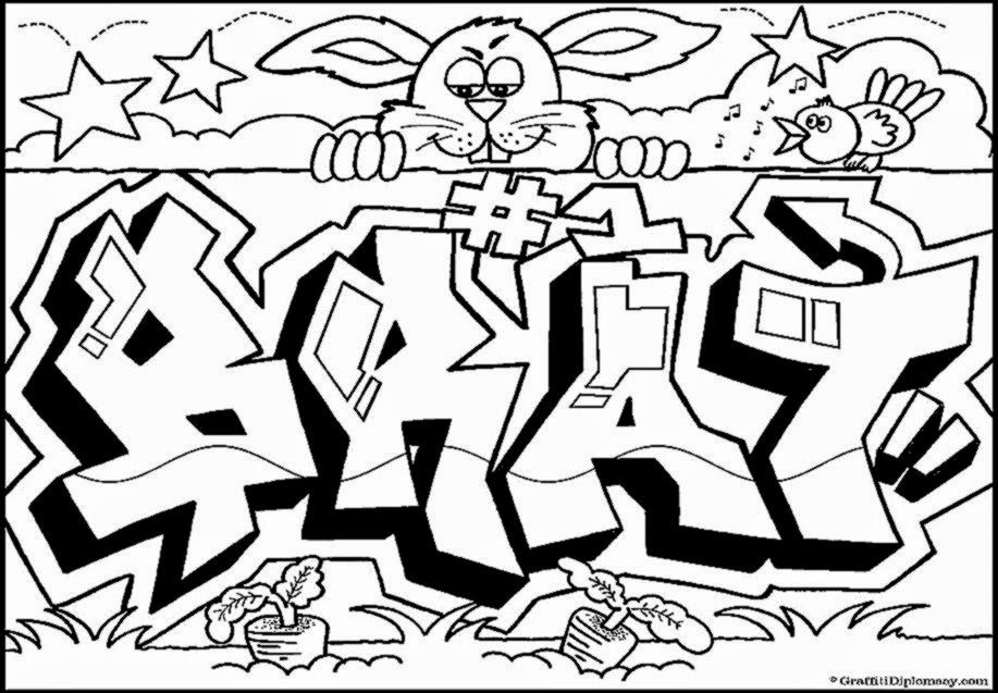 graffiti coloring pages free coloring sheet - Cool Coloring Book Pages