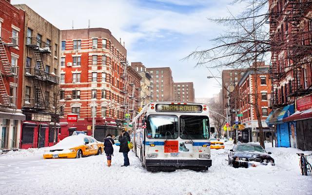 Fotos de Nieve en las Calles de New York