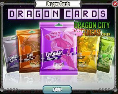 Cartas do Dragon City!