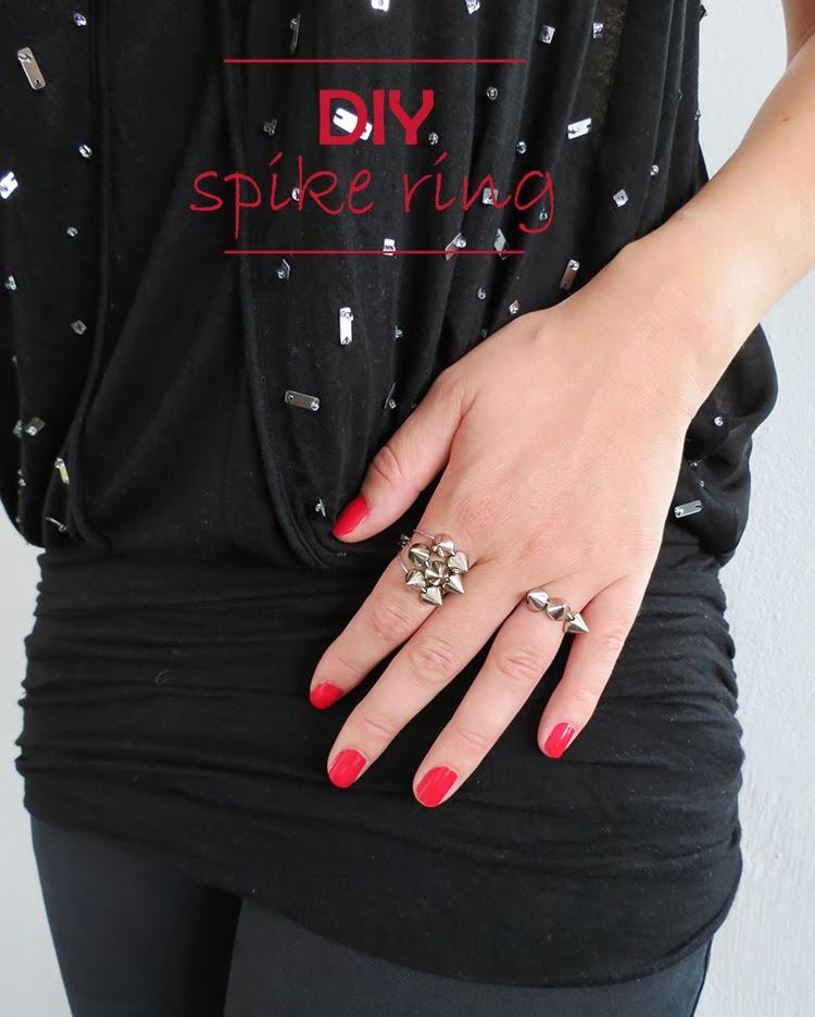 DIY spike ring