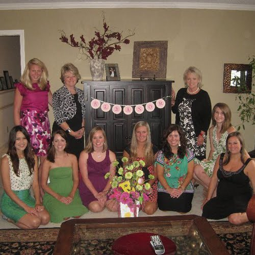 Pink and Green Baby Shower for Lauren | Belly Feathers :: Handmade