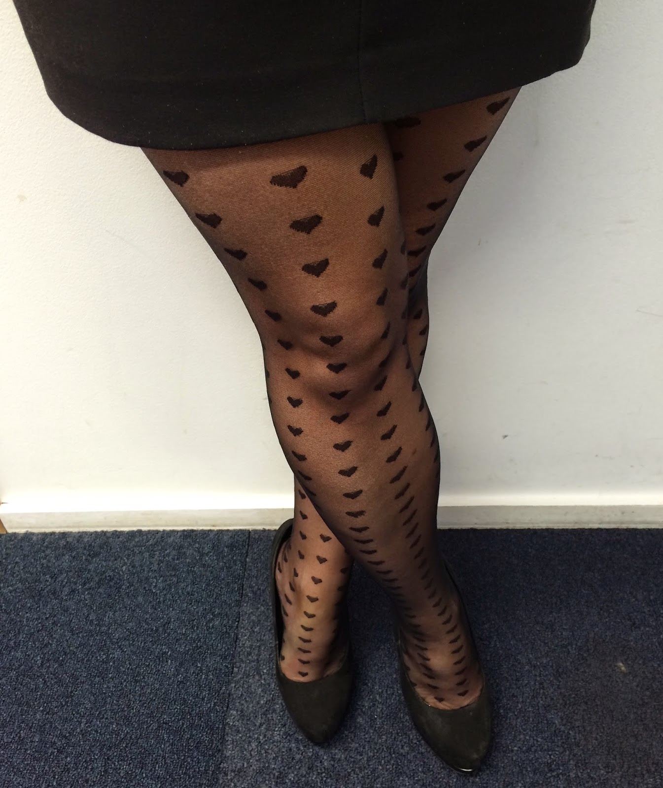 love heart hosiery