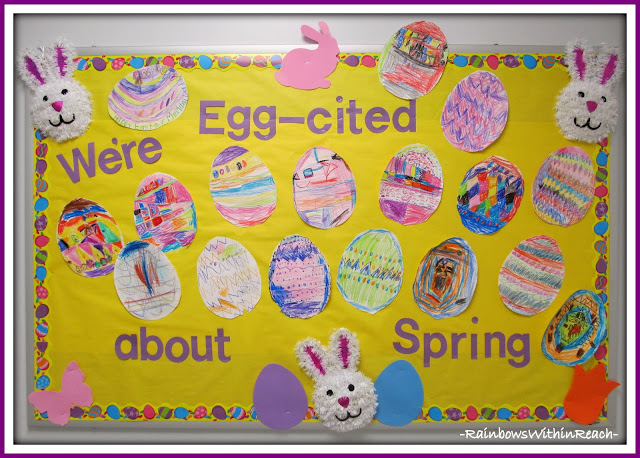 photo of: Spring Easter Egg Bulletin Board via RainbowsWithinReach