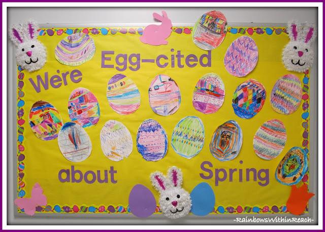 photo of: Spring Easter Egg Bulletin Board via RainbowsWithinReach