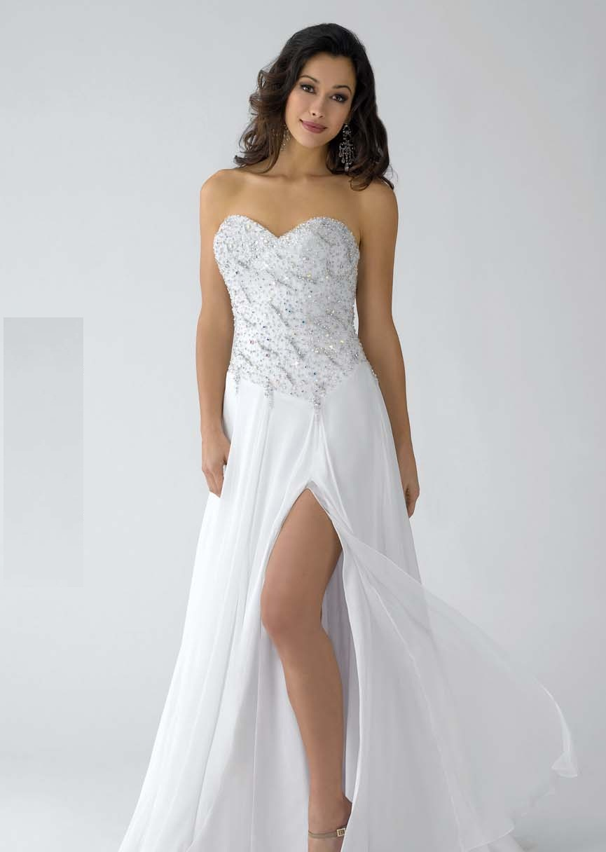 White Prom Dresses With Shoes - Prom Stores