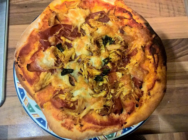 Chicken and parma ham pizza