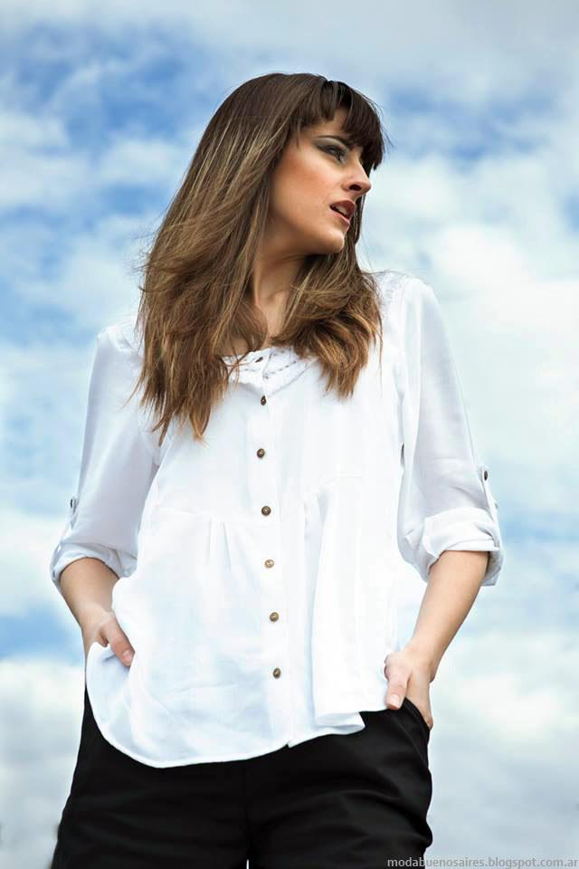 Moda primavera verano 2016 ropa de mujer Empatía camisas.