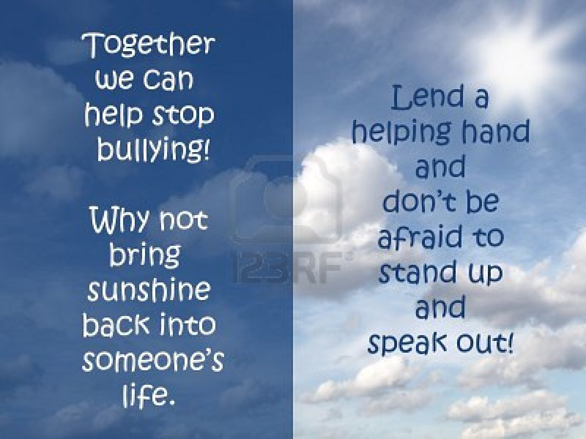 Sad quotes about bullying - Parents Especially Please Be Aware