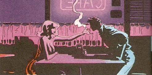 fumando dentro del bar