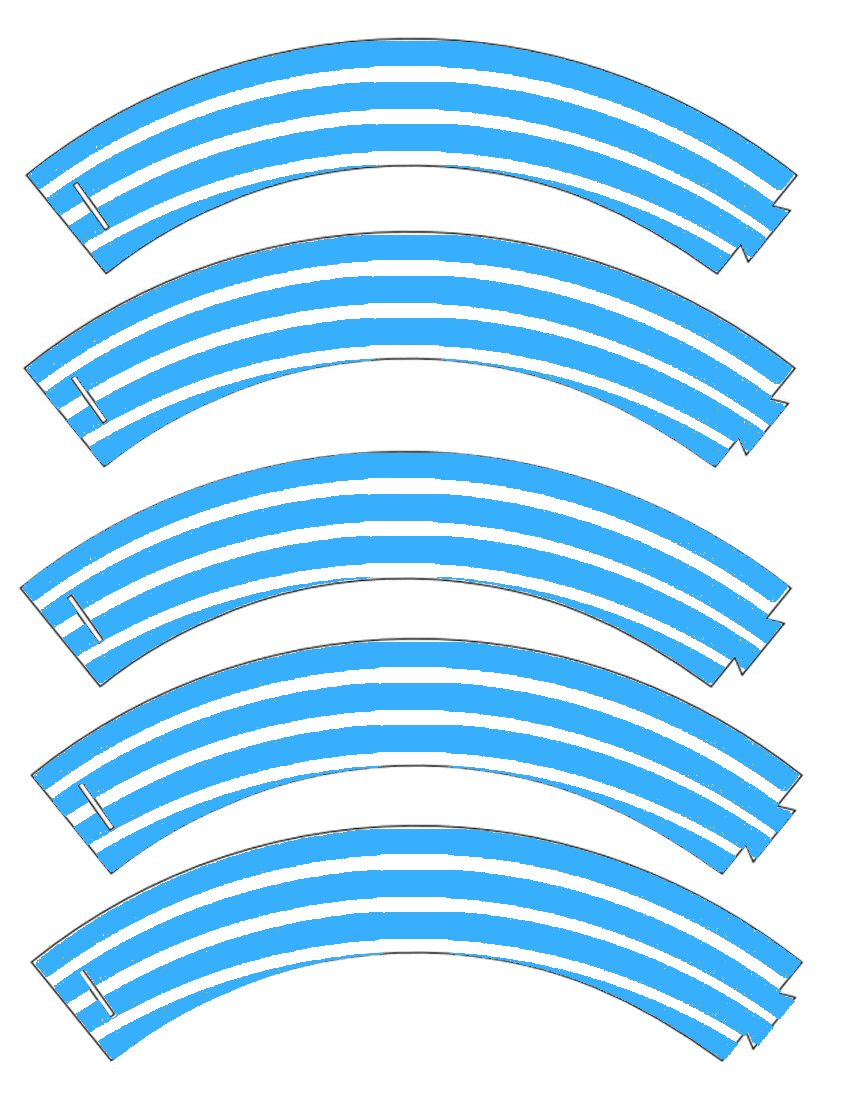 graphic regarding Printable Cupcake Wrappers named Foodstuff Artwork Bash: Totally free Printable Cupcake Wrapper within Stripes!