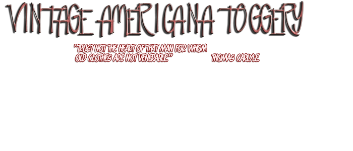 VINTAGE AMERICANA TOGGERY