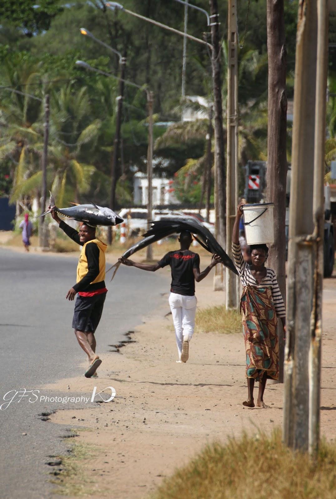 Fishermen, streets, Pemba