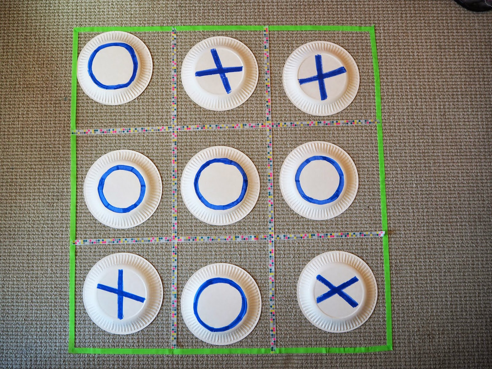 Image result for paper plate tic tac toe
