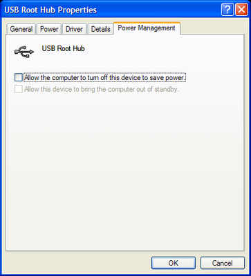 disable power management