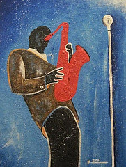 Red Saxophone (Sold)