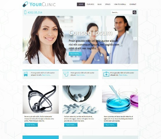 Hot Clinic Responsive Joomla Medical Template