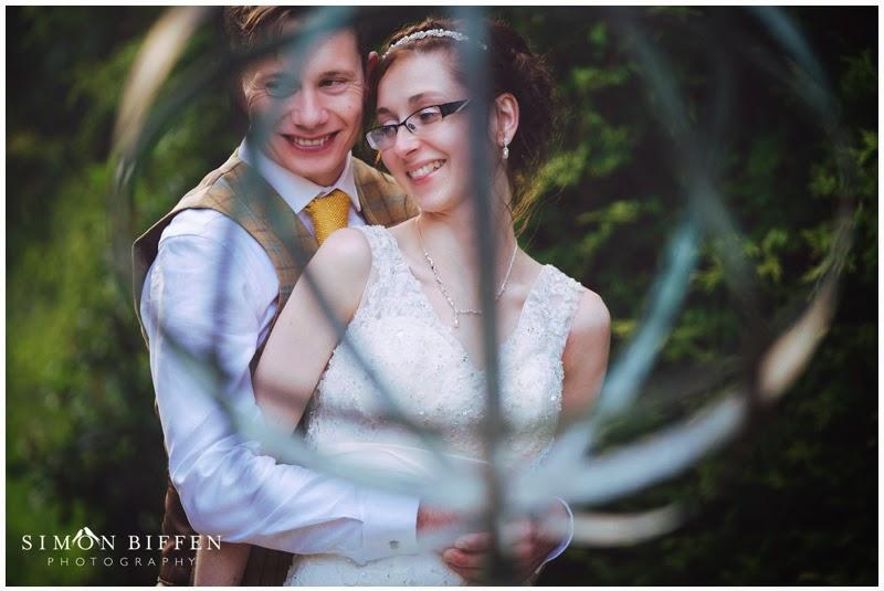Bride and groom Bailbrook House wedding