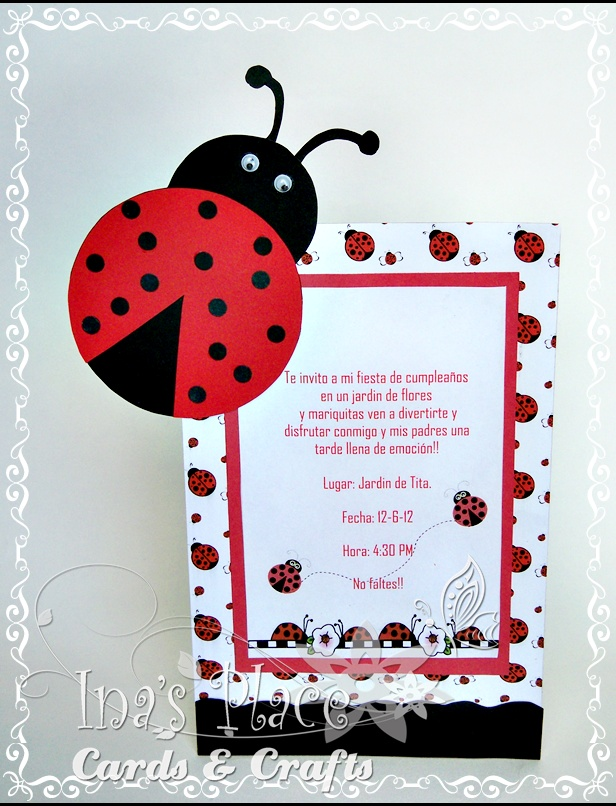 Ina's Place Invitations & Party Supplies: agosto 2012