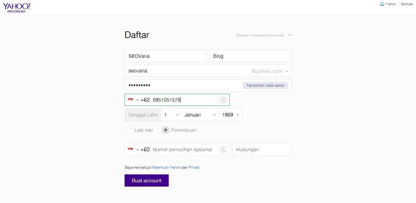 Cara Membuat Email di Yahoo 2