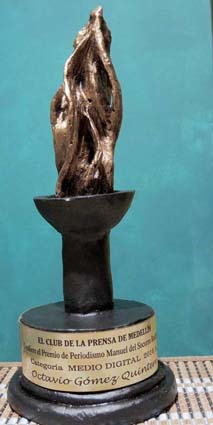 Nos ganamos el premio al MEDIO DIGITAL destacado, otorgado por El Club de la Prensa