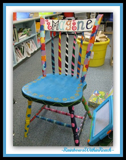 photo of: Kindergarten Author Chair at RainbowsWithinReach Kindergarten Excellence RoundUP