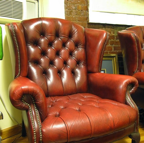 Oxblood Leather Chesterfield Chair Design1