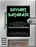 Deviant Database For Mutant Future Now Available!
