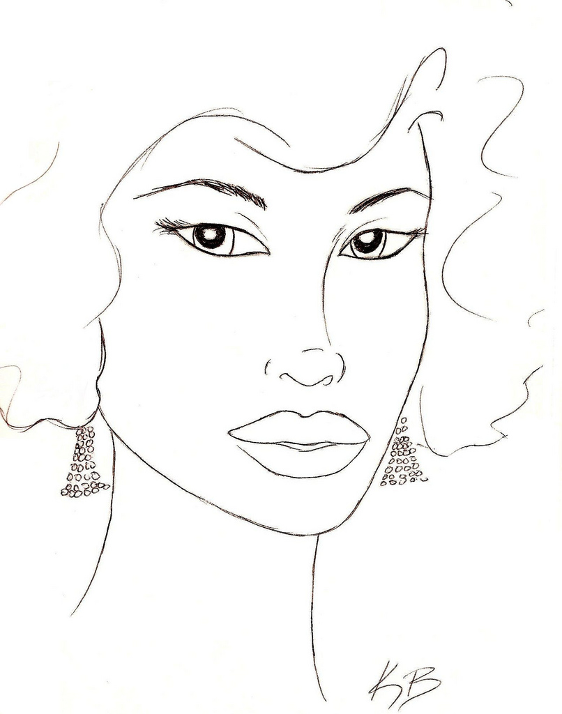 new hairstyle coloring pages - photo#11
