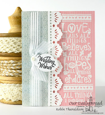 Our Daily Bread Designs Stamp sets: All Things, Wishing Well, Our Daily Bread Designs Custom Dies:Beautiful Borders, Mini Tags, Our Daily Bread Designs Paper Collection: Shabby Rose