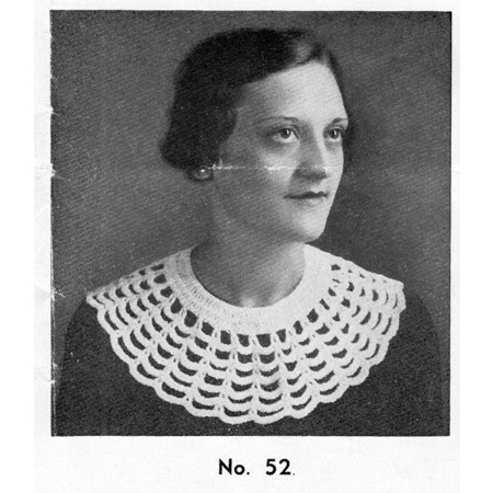 Vintage 1930s Crocheted Cobweb Collar Pattern