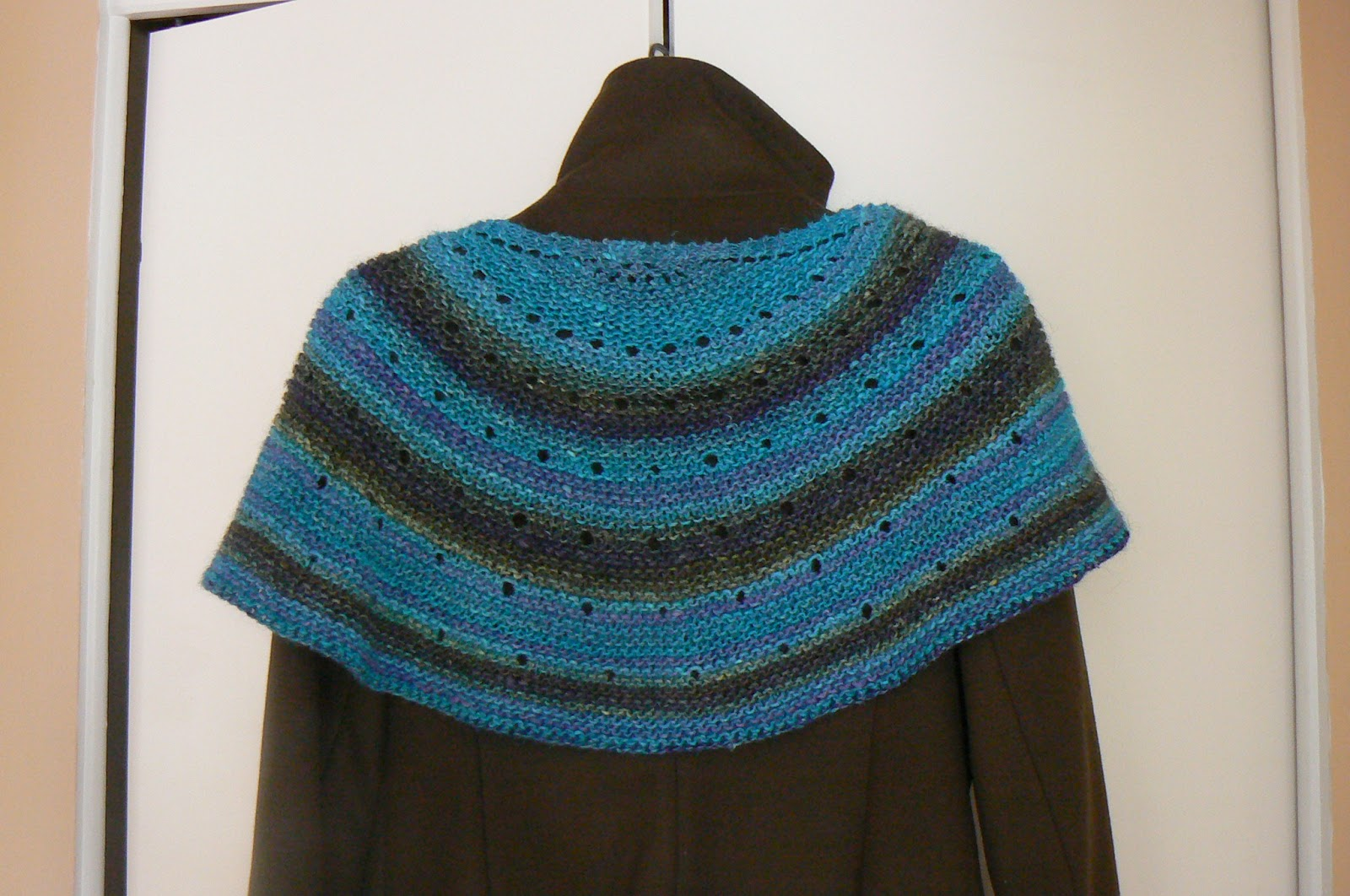 Chrissies Knit Times Silk Moon Crescent Shawl