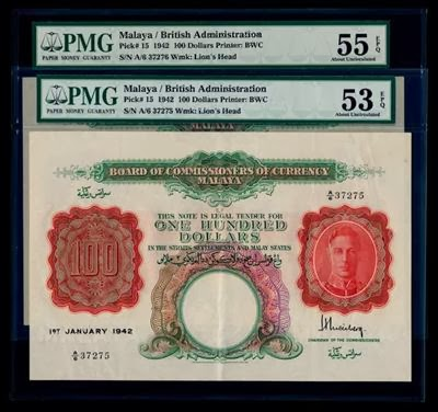 Malaya $100