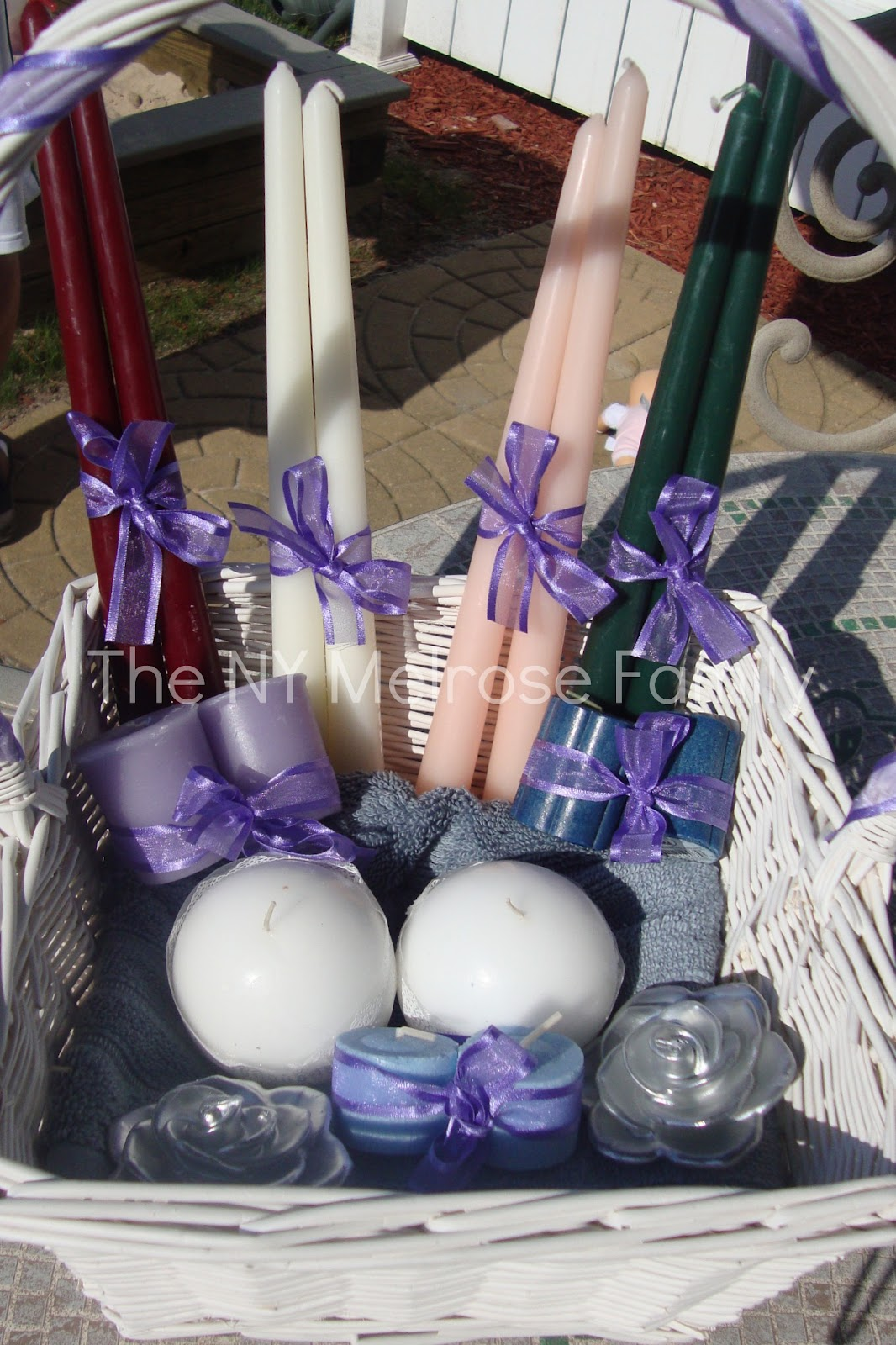 Wedding Shower Gift Basket Poem : Bridal Shower Gift: Candle Poem BasketThe Melrose Family