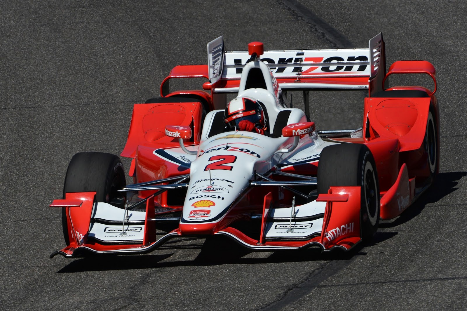 Penske running a fairly stock Chevy aero kit setup.