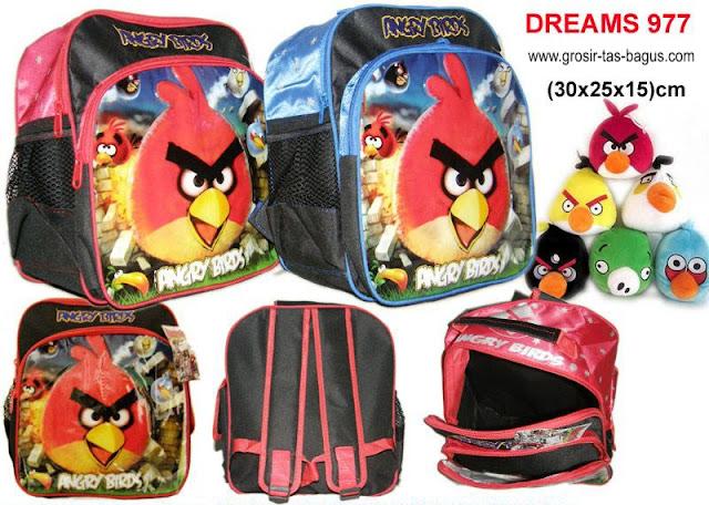Tas Ransel Anak Sekolah Murah dan Bagus Dreams 977- Angry Birds