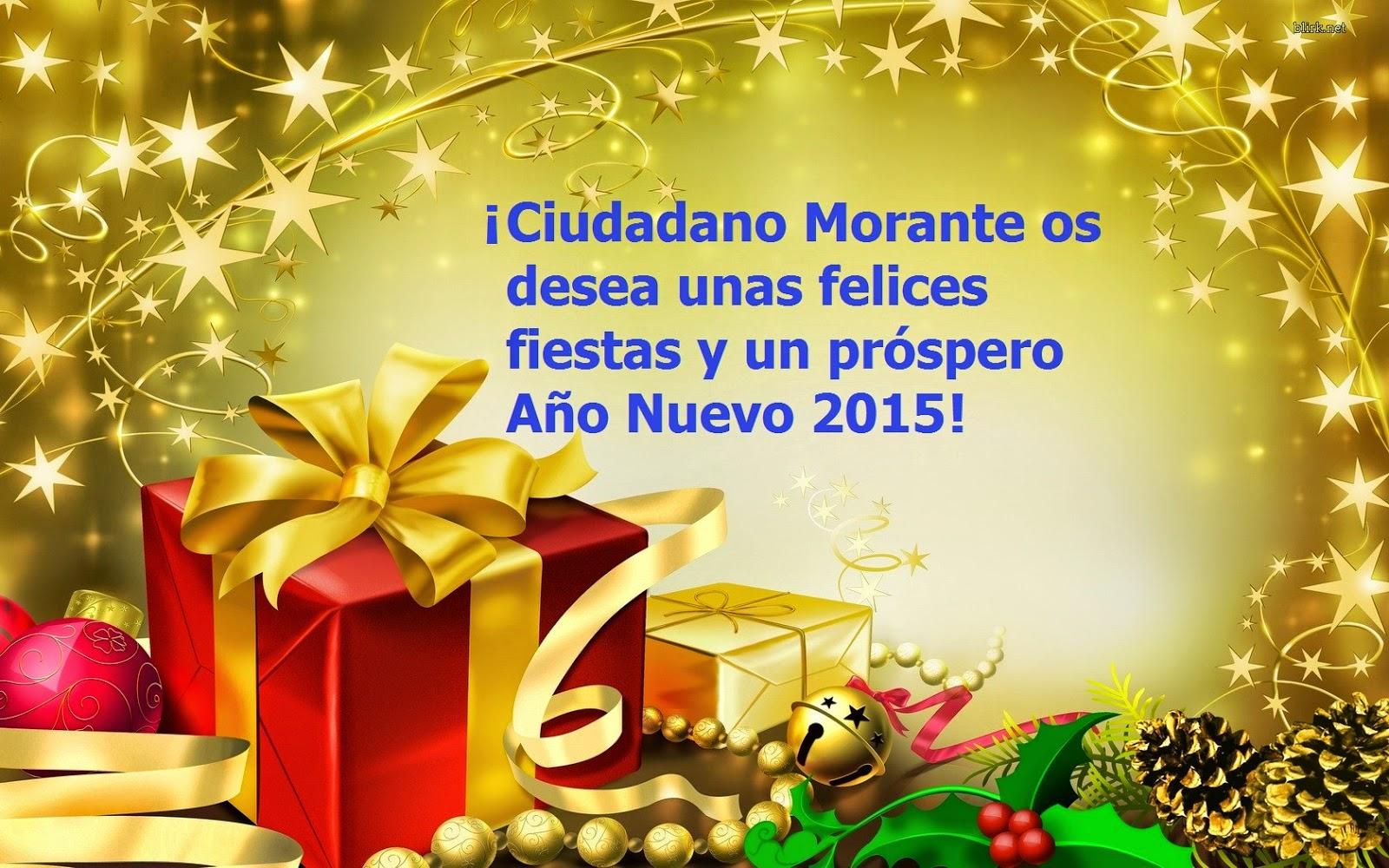 Ciudadano Morante os desea unas Felices Fiestas y un próspero Año Nuevo