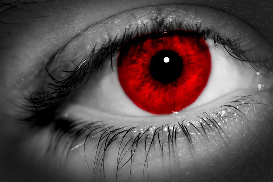 Weird and Awesome Contact LensesDark Red Eye Contacts