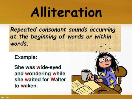 Some Uncommon Examples of Alliteration. - TammysEnglish Blog ...