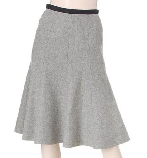 Flared Wool Skirt